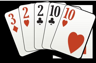 две пары играют в карты