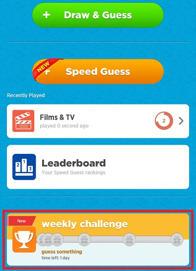 What is Weekly Challenge? — Draw Something and Speed Guess Something